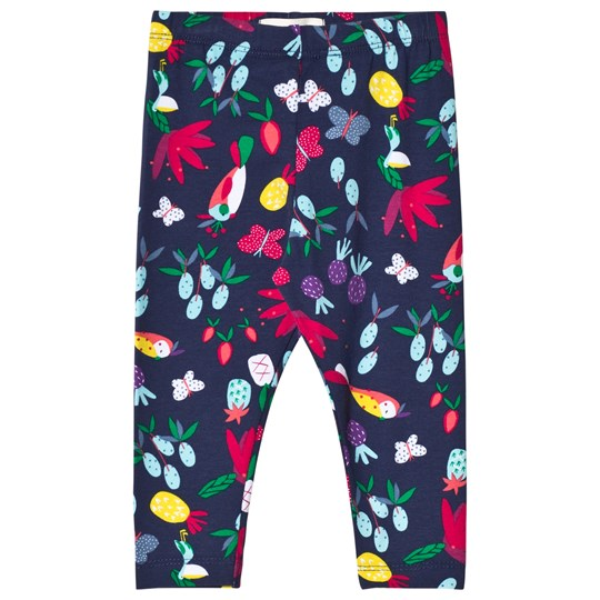 Catimini Navy Floral and Tropical Birds Print Leggings 88