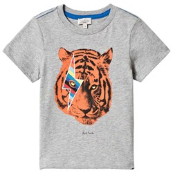 Paul Smith Junior Grey Tiger Print Tee