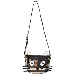 Burberry Classic Check Cat Canvas and Leather Bag
