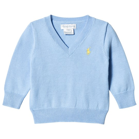 Ralph Lauren Florida Blue V-Neck Jumper 003