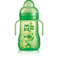 MAM Nappflaska, Trainer, 220 ml, Grön Green