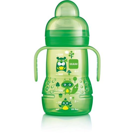 MAM Trainer+ Baby Bottle Green 220 ml Green