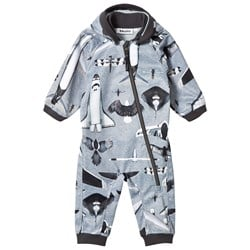 Molo Hill Soft Shell Onesie Planes and Birds