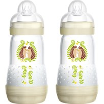 MAM Nappflaska, Anti Colic, 260 ml, 2-pack, Vit Multi