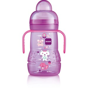 Image of MAM Trainer+ Baby Bottle Pink 220 ml (3125327171)