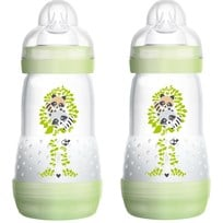 MAM Nappflaska, Anti Colic, 260 ml, 2-pack, Grön Sort