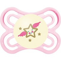 MAM Napp + Steriliseringsbox, Perfect Night, 0-6m, Silikon, Rosa Pink
