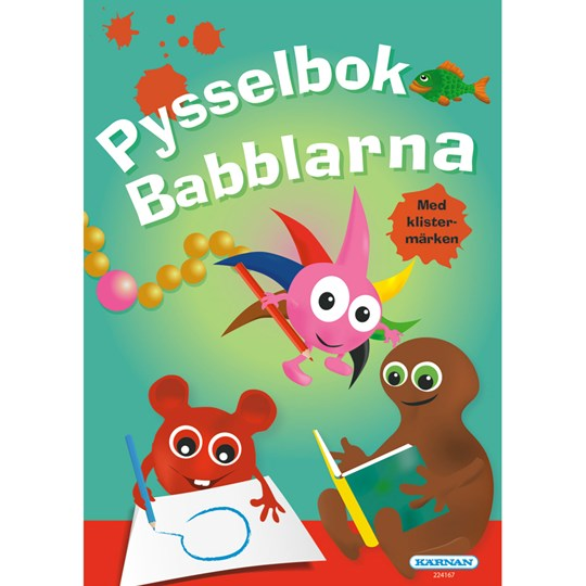 Babblarna Babblarna Coloring and Puzzle Book Set Green