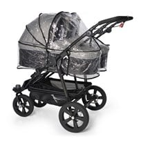 TFK Double Rain Cover Twin/DuoX Carrycot TRANSPARENT
