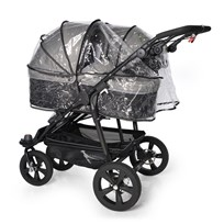 TFK Single Rain Cover Twin/DuoX Carrycot TRANSPARENT