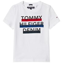 Tommy Hilfiger White Branded Short Sleeve Tee 123