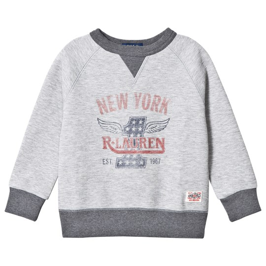 Ralph Lauren Grey Vintage Logo Sweatshirt LIGHT GREY HEATHER