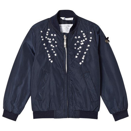 Le Chic Navy Flower Broderade Bomber Jacka 190