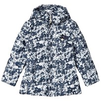 Le Chic Navy and White Floral Padded Coat 190