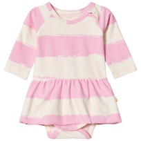 Noe & Zoe Berlin Pink Stripe Baby Body with Skirt ROSE STRIPE XL