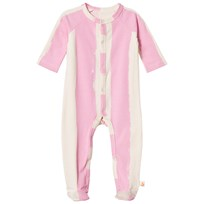 Noe & Zoe Berlin Pink Stripe Footed Baby Body ROSE STRIPE XL