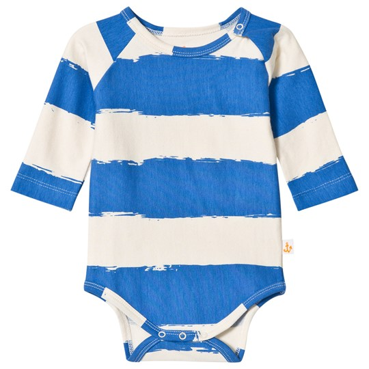 Noe & Zoe Berlin Blue Stripe Infants Long Sleeve Body BLUE STRIPES XL