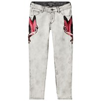 Guess Acid Wash Broderade Flamingo Skinny Jeans ACCD