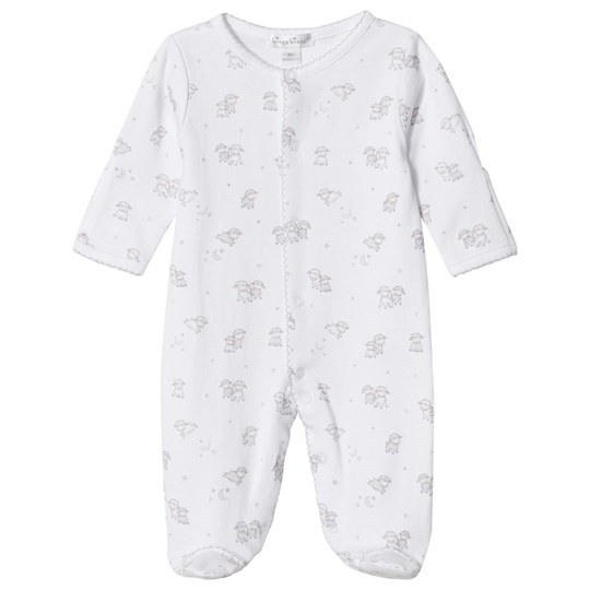 Kissy Kissy White Sheep Print Footed Baby Body WH