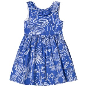 Image of Il Gufo Floral Print Frill Collar Sleeveless Dress 12 years (2887463377)