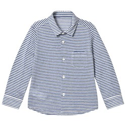 Il Gufo Navy Stripe Long Sleeve Shirt
