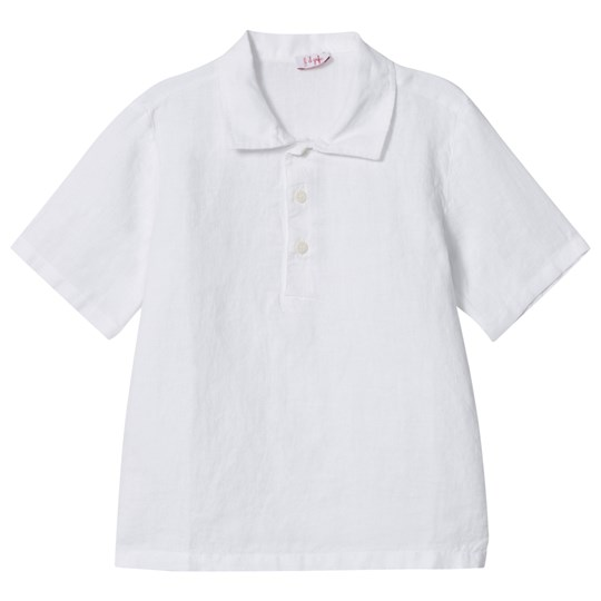 Il Gufo White Linen Polo Shirt 010