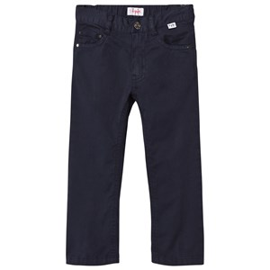 Image of Il Gufo Navy Gabardine Chinos 2 years (2908499709)
