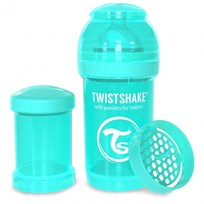 Twistshake Anti-Colic Baby Bottle 180 ml/6 oz Pastel Blue Blå