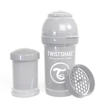 Twistshake Anti-Kolik Nappflaska 180 ml Pastellgrå Grey