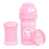 Twistshake Anti-Colic Baby Bottle 180 ml/6 oz Pastel Pink Lyserød