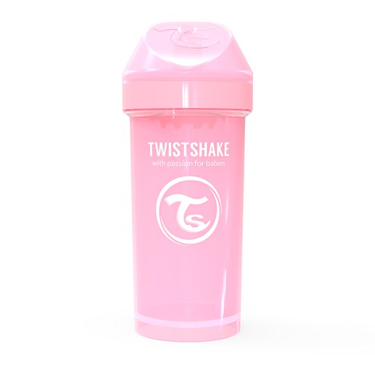 Twistshake Kid Cup 360 ml/12 oz (12+ m) Pastel Pink Rosa