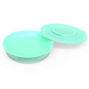 Image of Twistshake Plate + Cover (6+ m) Pastel Green (2887907705)