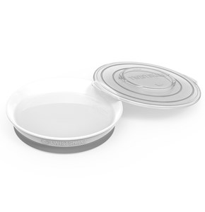 Image of Twistshake Plate + Cover (6+ m) White (2943827013)