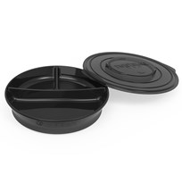 Twistshake Divided Plate + Cover (6+ m) Black Black