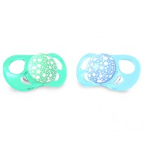 Twistshake 2-Pack Orthodontic Pacifiers Large (6+ m) Pastel Blue & Green Blå/grön