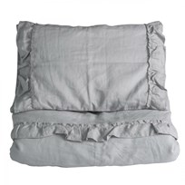 NG Baby Mood Ruffles Junior Duvet Set Light Grey Light Grey