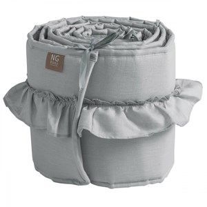 Image of NG Baby Mood Ruffles Bed Bumper Light Grey One Size (1029276)