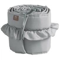 NG Baby Mood Ruffles Bed Bumper Light Grey Light Grey