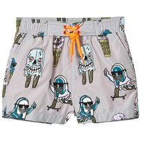 Stella McCartney Kids Grey Ice Cream Print Taylor Swim Shorts 3760