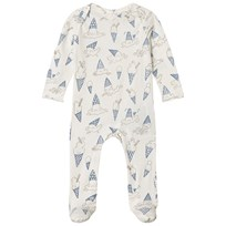 Stella McCartney Kids ce Cream Print Rufus Footed Baby Body 9578