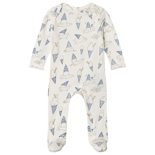 Stella McCartney Kids Ice Cream Print Rufus Footed Baby Body 9578