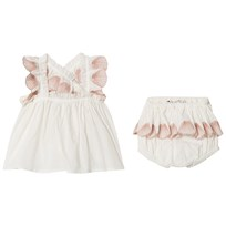 Stella McCartney Kids Cream Shell Embroidered Top and Bloomers 9232