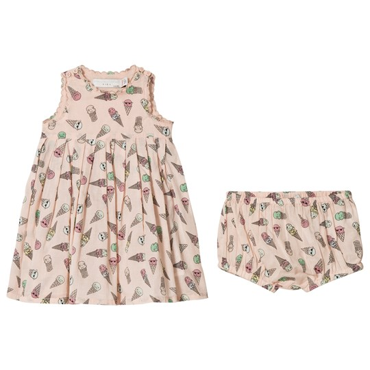 Stella McCartney Kids Pink Ice Cream Print Flossie Klänning och Mamelucker 5961