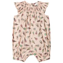 Stella McCartney Kids Pink Ice Cream Frill Romper 5961