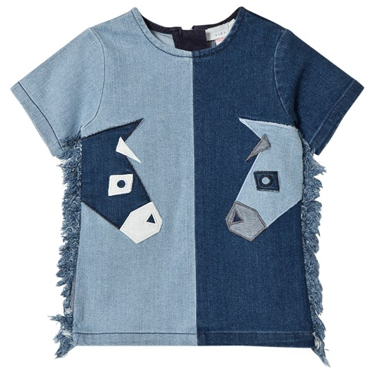 Stella McCartney Kids Blue Denim Donkey Dress 4162