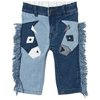 Stella McCartney Kids Blue Bob Donkey Applique Jeans 4160