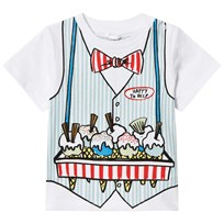 Stella McCartney Kids White Ice Cream Seller Chuckle Print Tee 9082