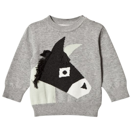 Stella McCartney Kids Grey Donkey Knit Lucky Jumper 1461
