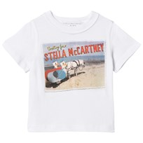 Stella McCartney Kids Reversible White Stella Postcard Arlo Tee 9082