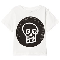 Stella McCartney Kids White Stella Skull Print Tee 9082